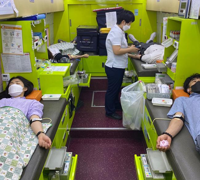 경북도 청소년수련원 '사랑나눔 헌혈 캠페인' 실시